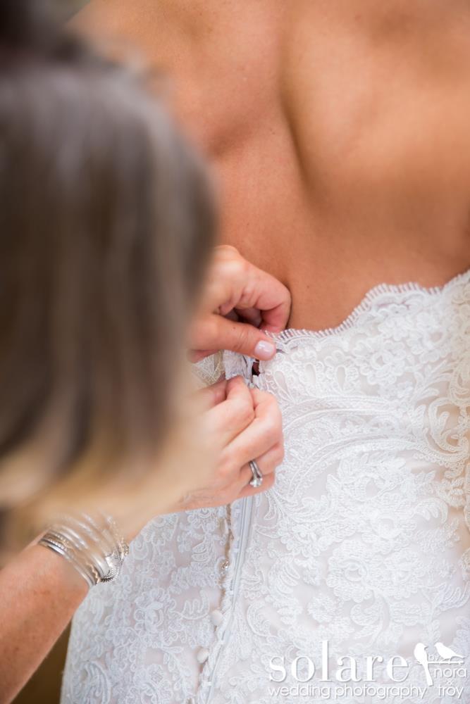 bride zipped up