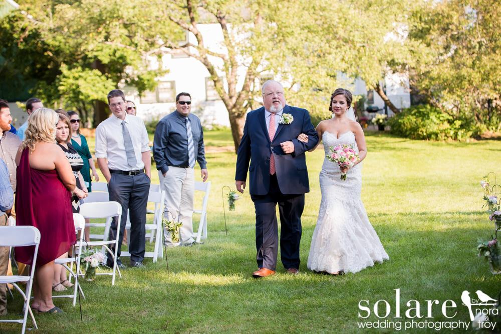 private outdoor vermont wedding ceremony