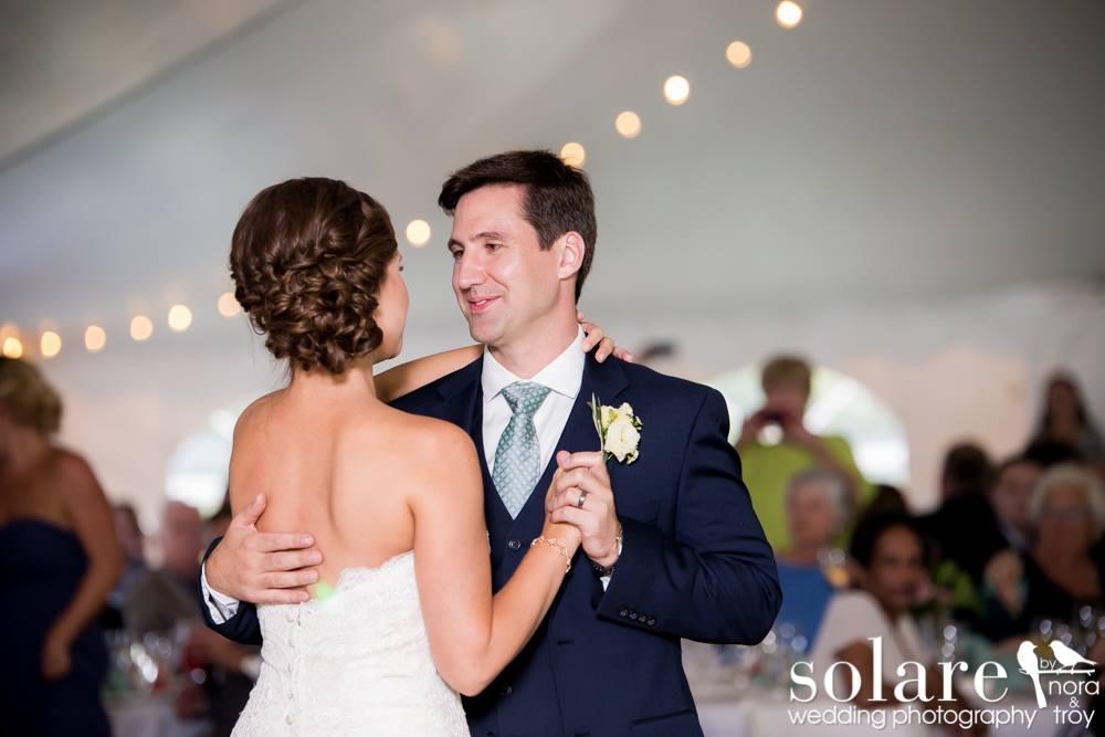 vt tented wedding | first dance