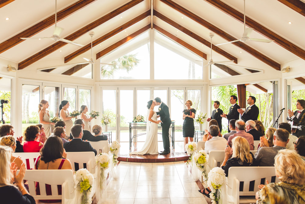 the reef house queensland wedding ceremony by matthew evans photography