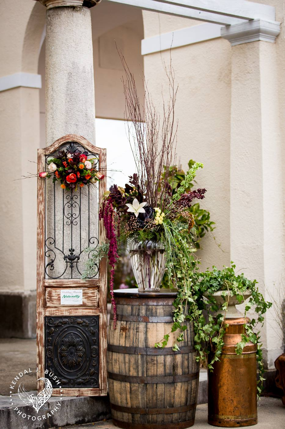 tuscany inspired wedding decor