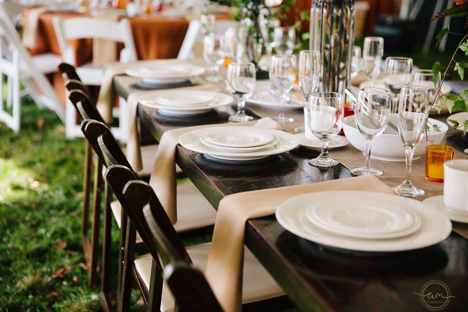 farmers tablescape wedding display