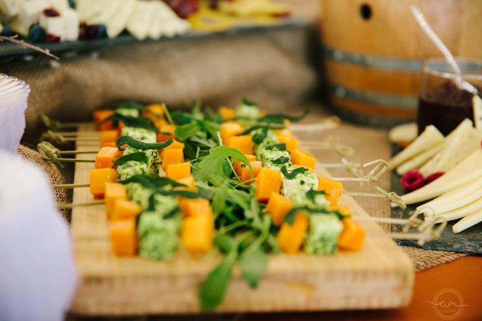 butternut squash and cheese skewers
