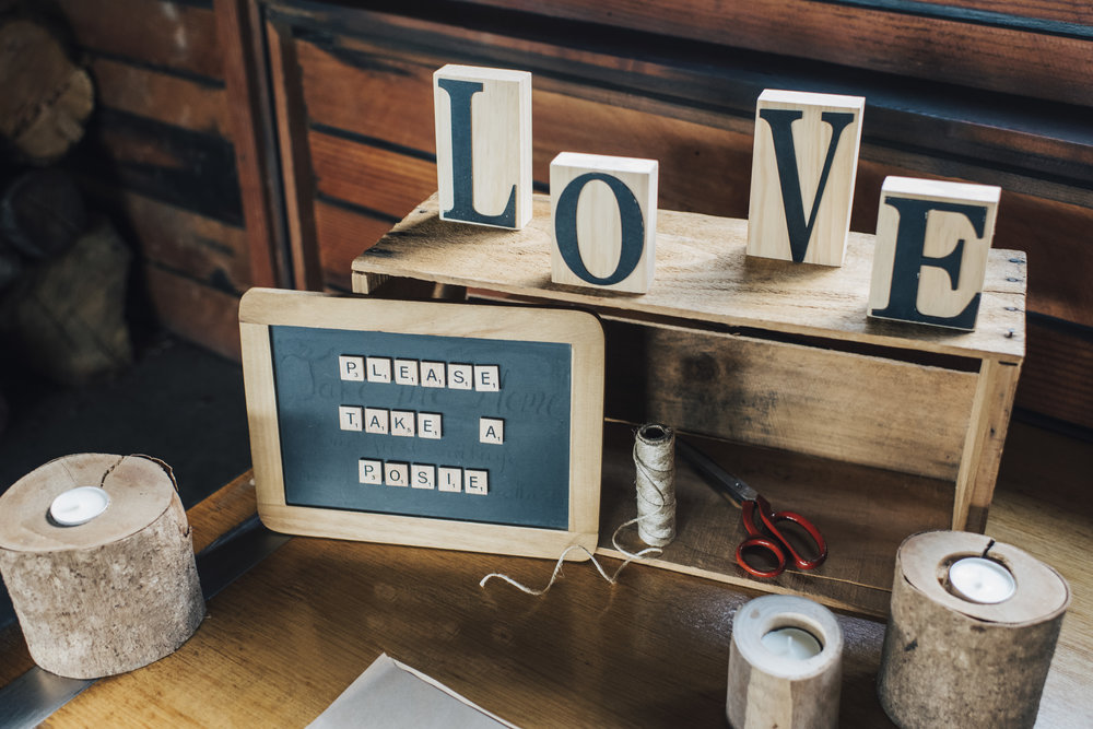Wooden Letters wedding day