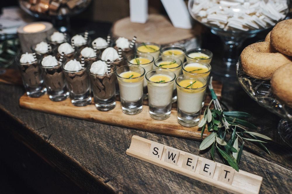 Sweet dessert shots