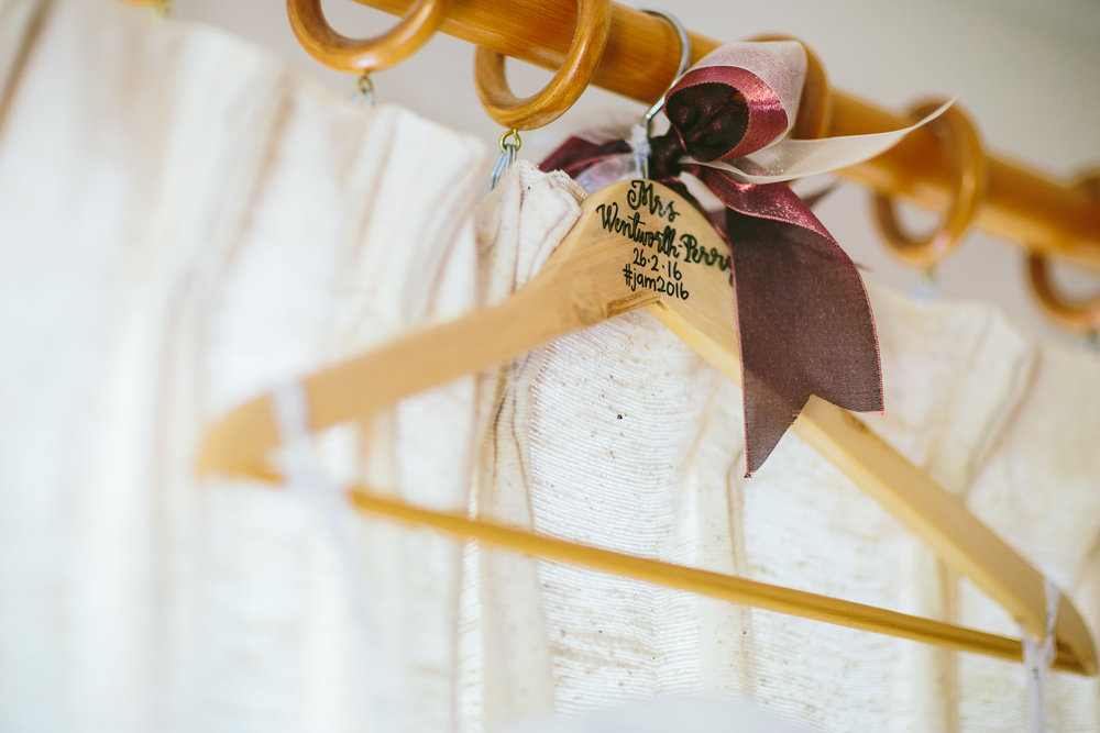 Berry Color Wedding Dress Hanger