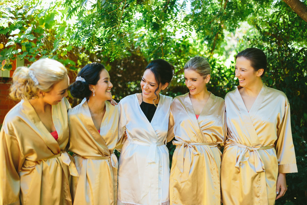Bridesmaid Gold Robes