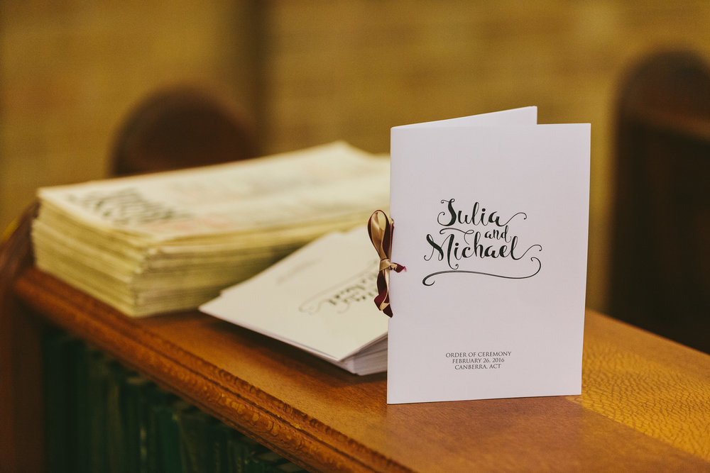 St Christopher Cathedral Wedding Programs