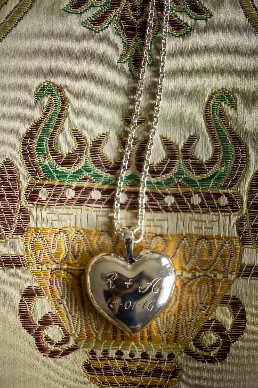 Engraved Wedding Locket