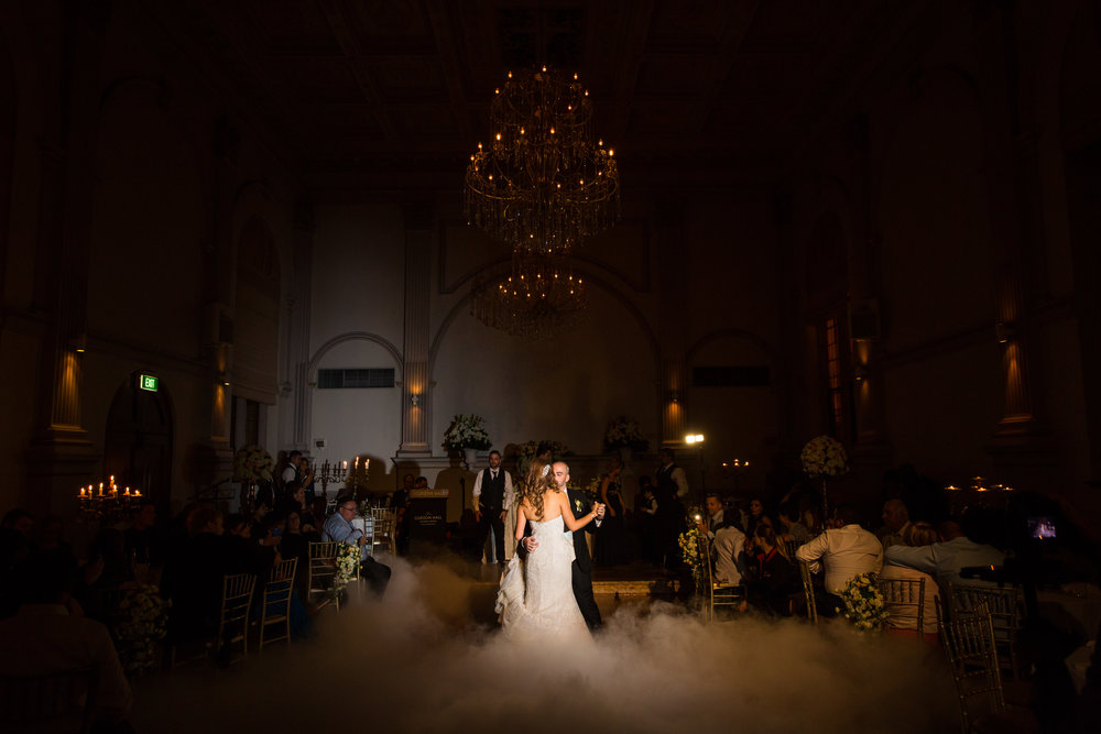 First dance with fog machine