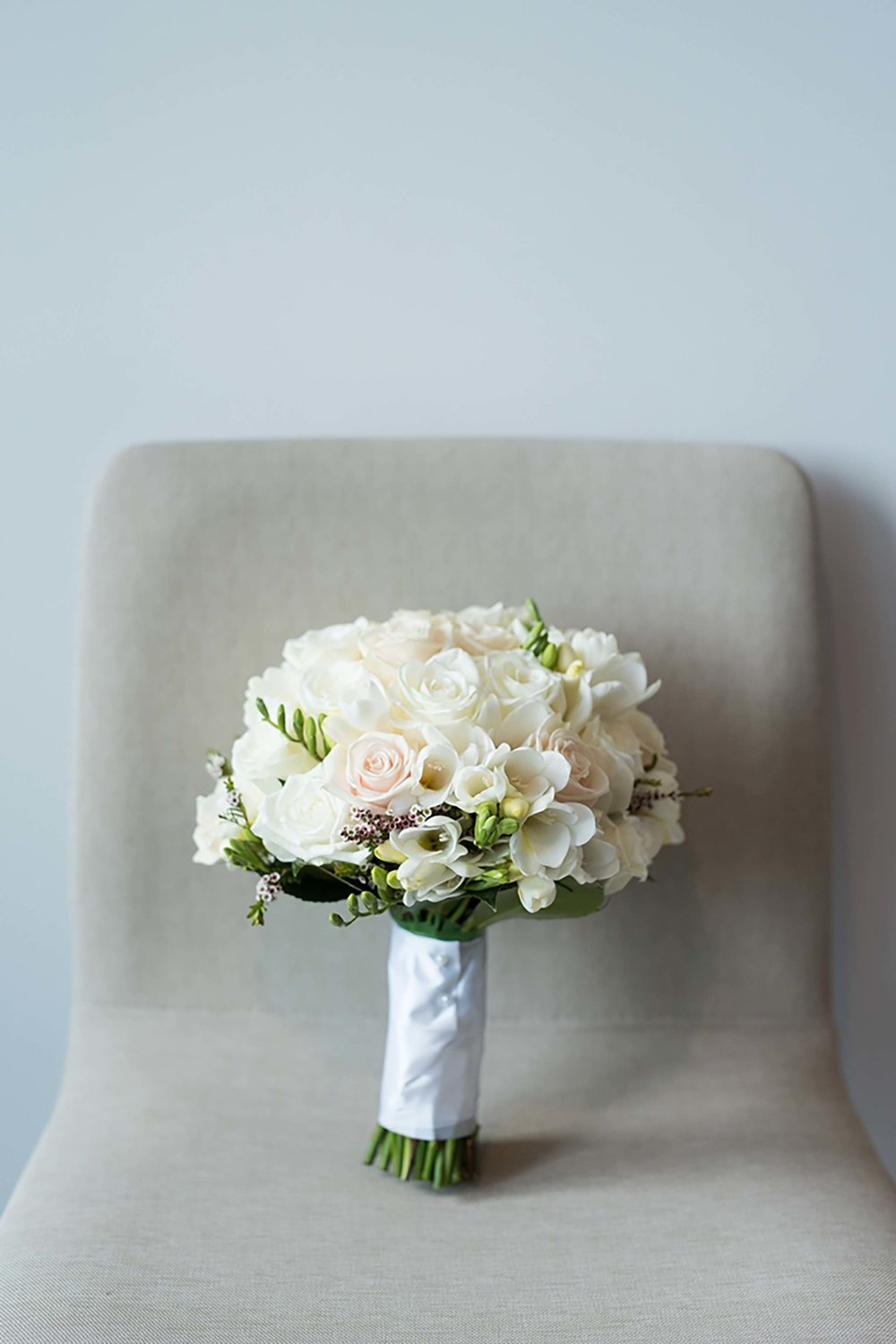 White Bridal Bouquet at the International