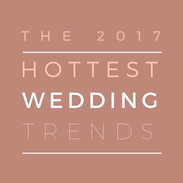 Big things are poppin' in the wedding world with some HOT new trends. Whether you are keeping things classic or digging that modern vibe--these trends are worth taking a look! Link in profile!