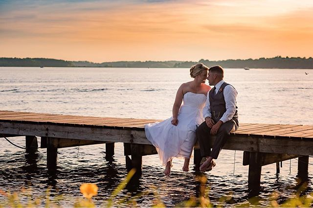 The only thing better than witnessing the love two people share for each other on their wedding day is being part of their love story. So thankful and grateful to have been standing up there with these two. 😘 Thank you @awesomesauce.photography for capturing this GORGEOUS sunset shot!! 🌅