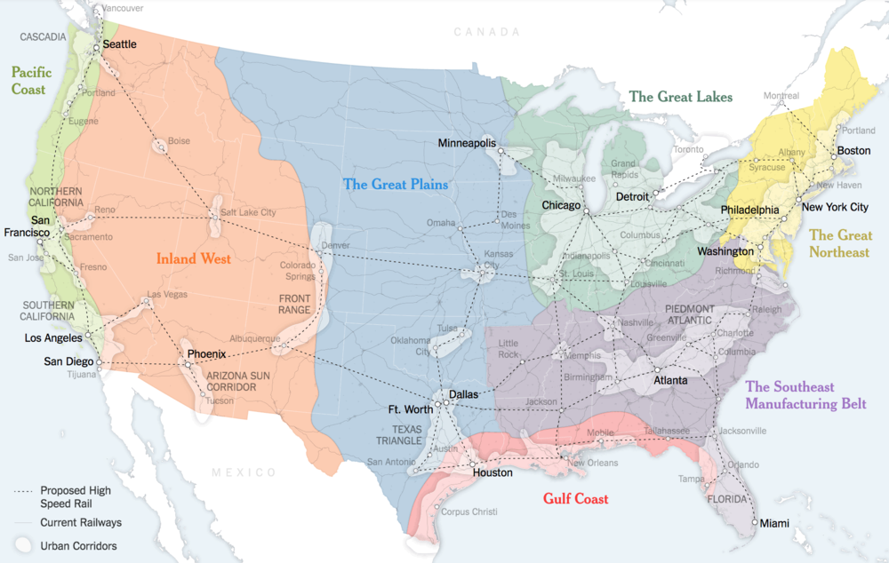 Beyond The Fifty States Americas Next Map Clare Trainor - New map of us