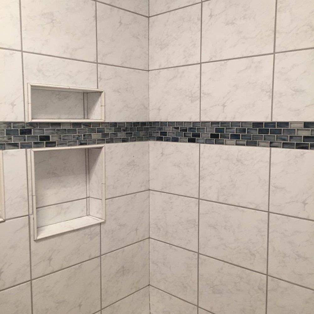 Mosaic tub surround. Bright star handyman philadelphia handyman.