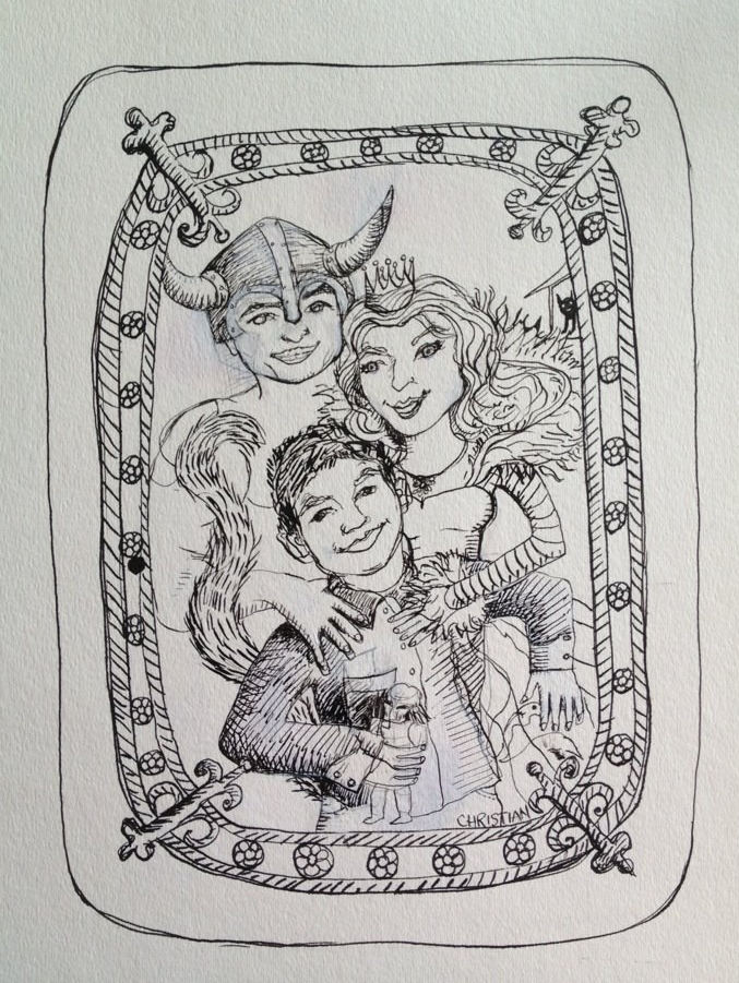 Family Portrait, Hartmans ink progress pic.jpg