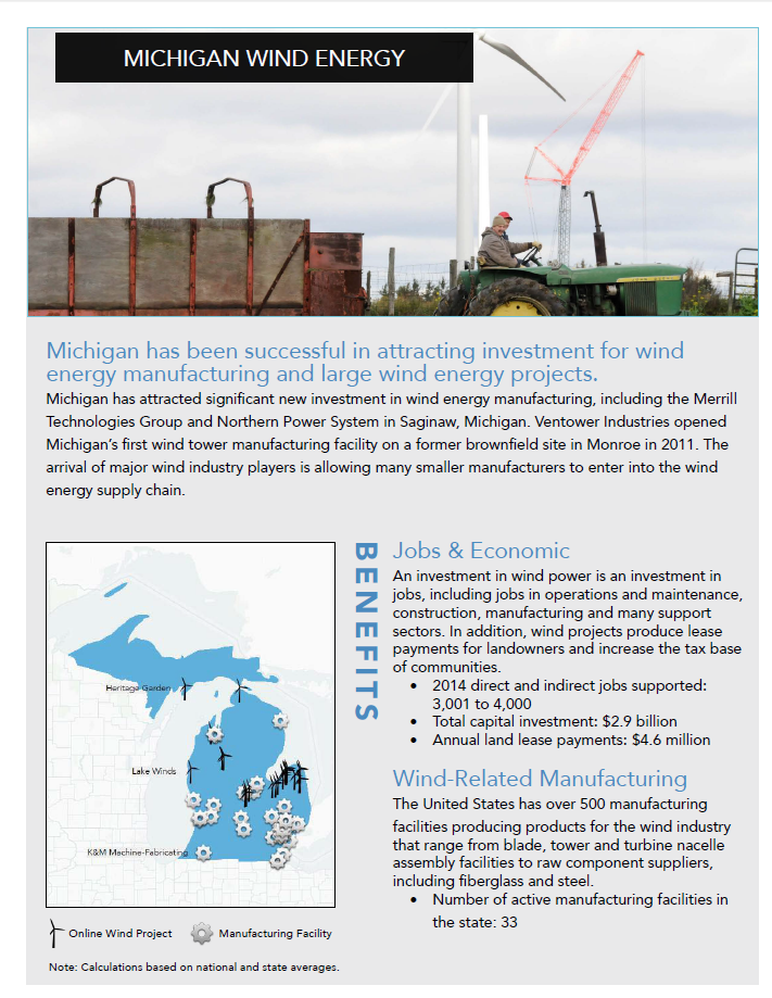 Michigan Wind Energy Fact Sheet