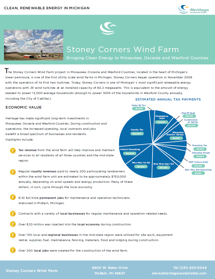Stoney Corner Wind Farm
