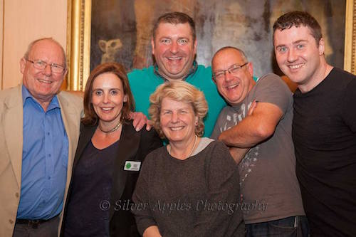 The Green Room - Graeme Garden, Verity Fifer (Fundraiser at Lawrence Home Nursing) Nick Page, Sandi Toksvig, Ken Norman, Lloyd Langford.