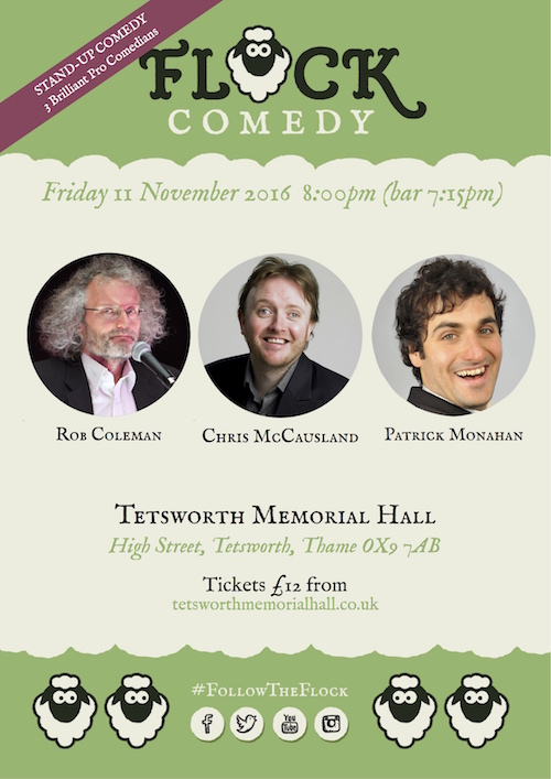 Flock Comedy at Tetsworth Memorial Hall