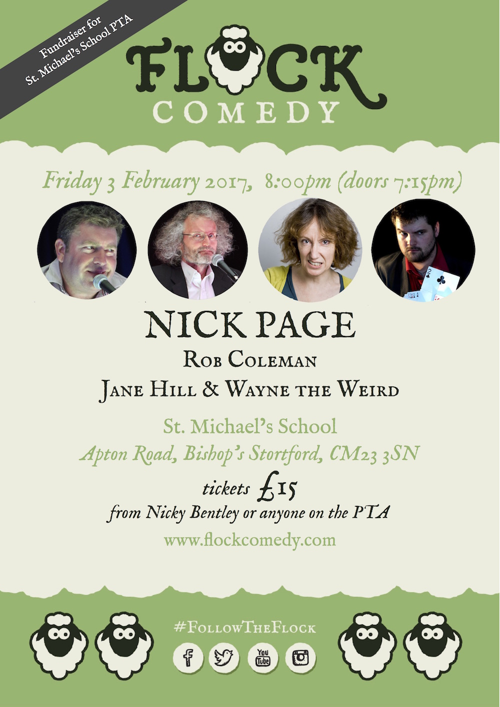 Flock Comedy's evening of stand-up comedy in Bishops Stortford