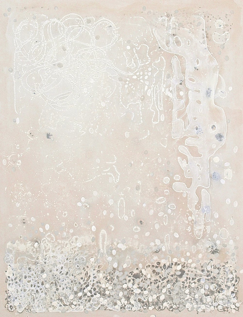 "Evidence,  casein, mineral, ash and plant pigment on canvas, 62""x48"", $4500"