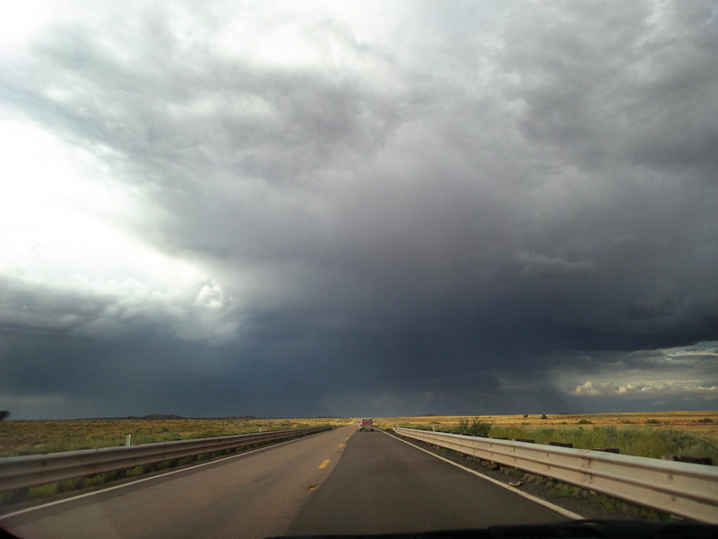Western New Mexico   A passing storm in the open plains of Western New Mexico.