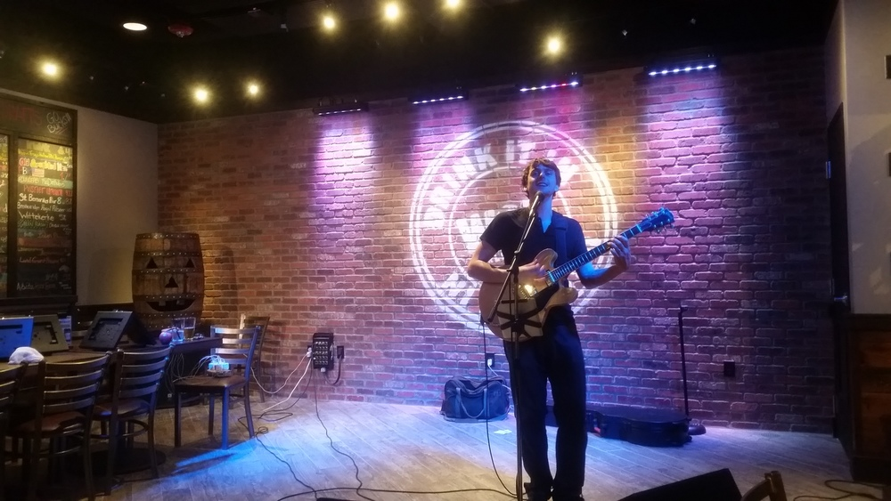 Our friend George Barrie playing a gig at World of Beer in Columbus, Ohio