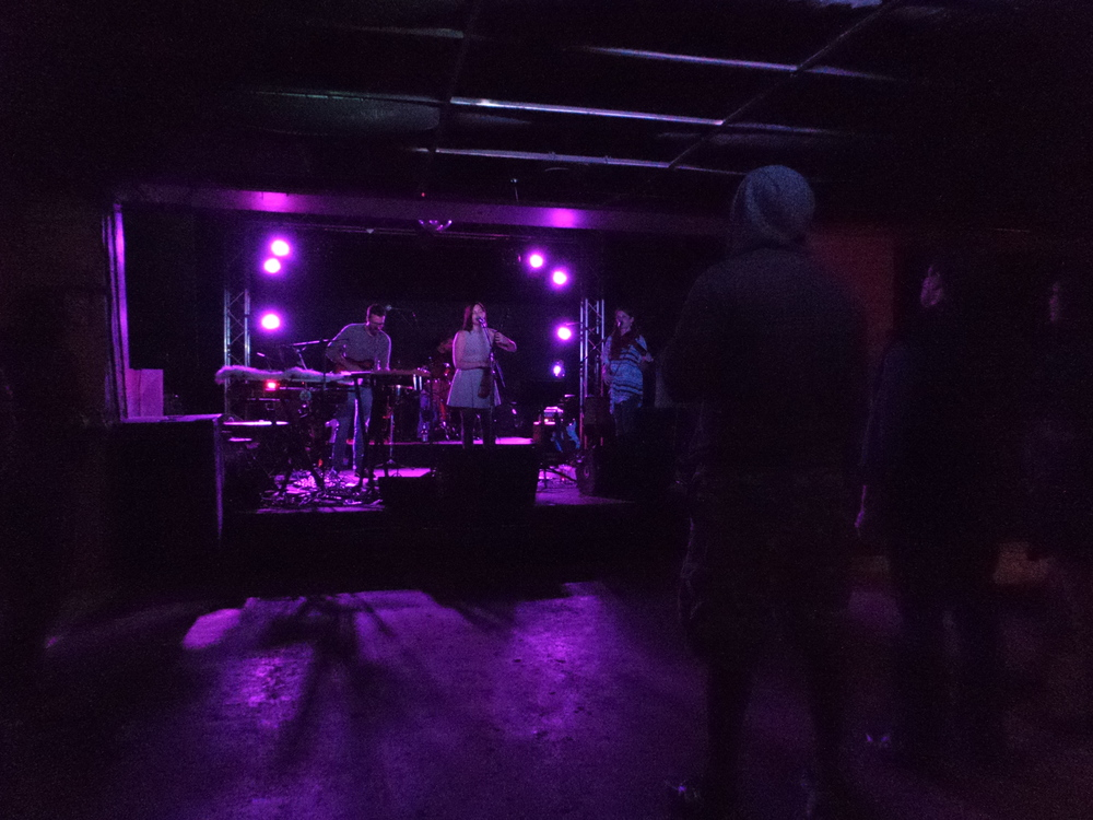 Friend Kristen has a live music show at an Ohio State University bar