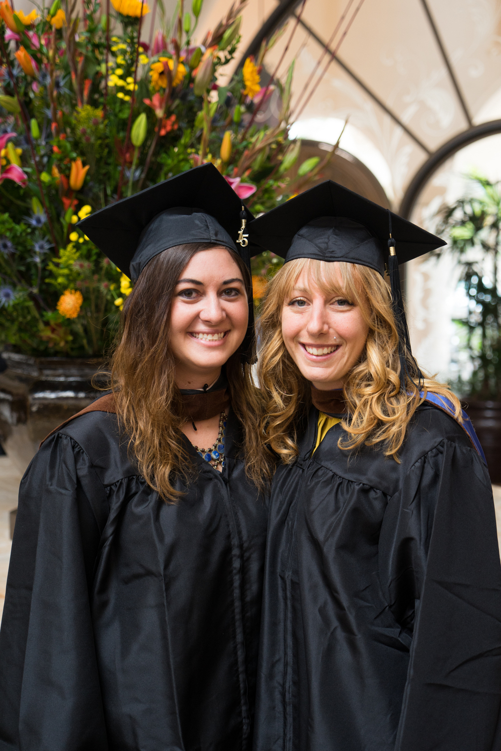 Jenny & the only other girl from her class who graduated with her MFA (one of the 3 who graduated!)