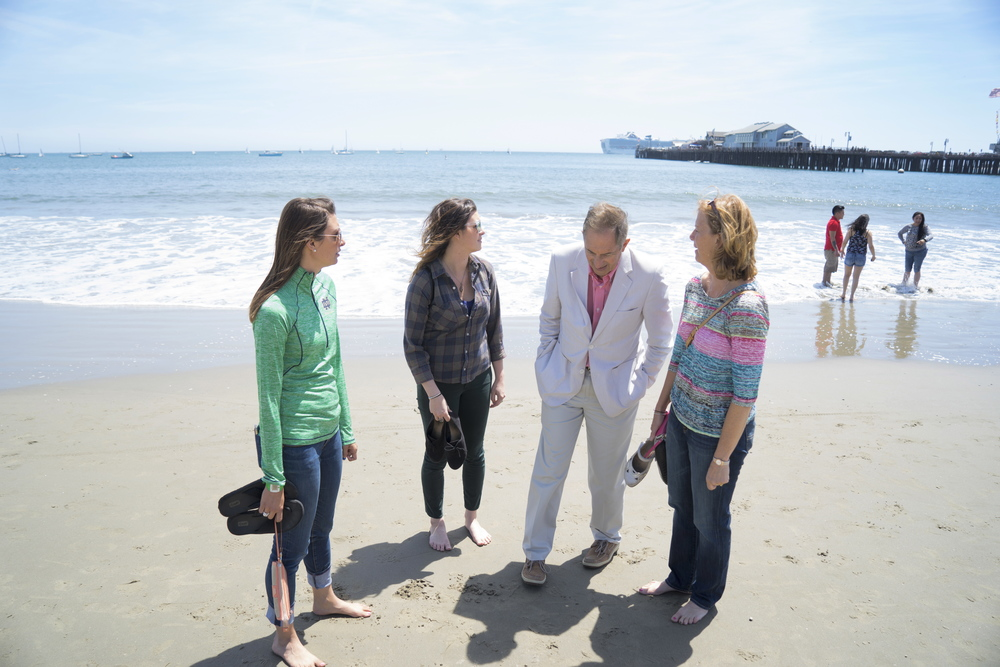 Jenny & her family in Santa Barbara