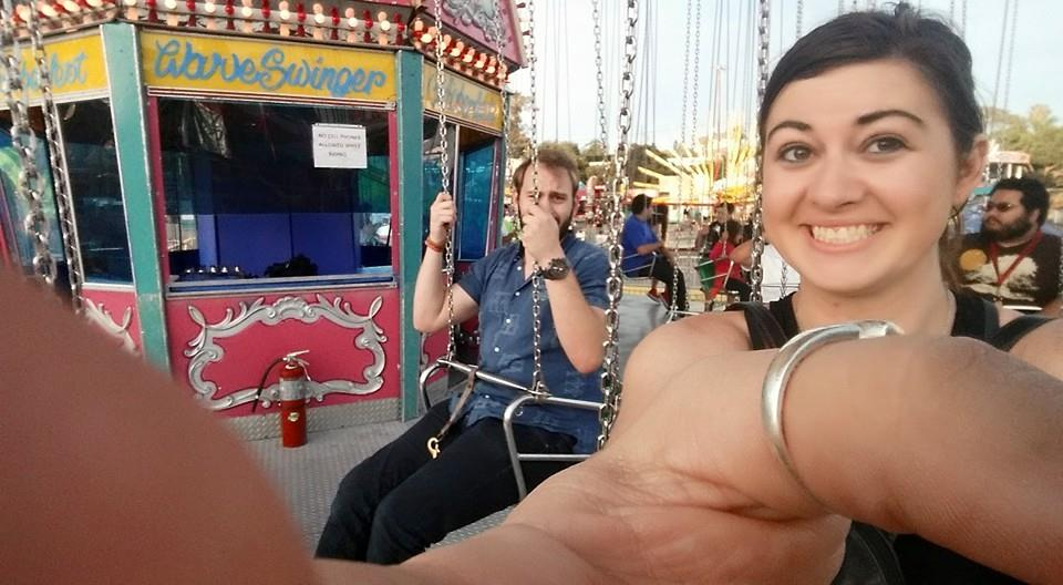 Us at one of the many fairs we went to over summer