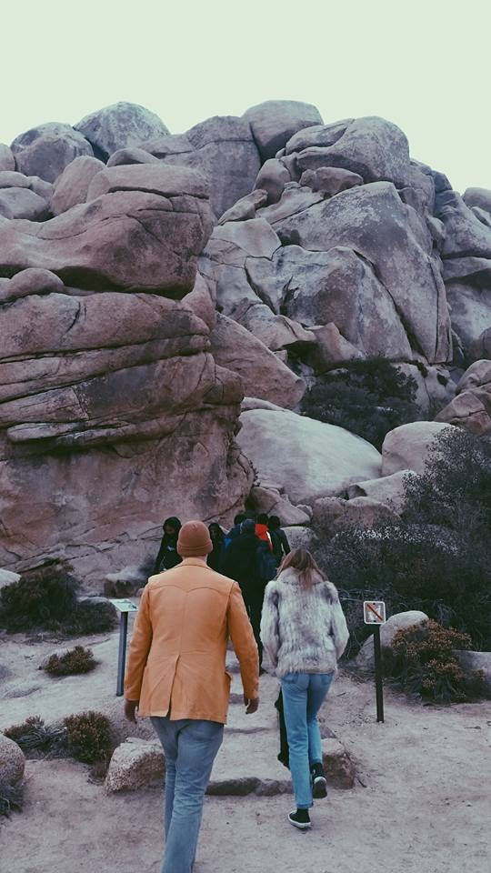 Vintage Coat Day in Joshua Tree- Jason and Jenny's best explorer friend