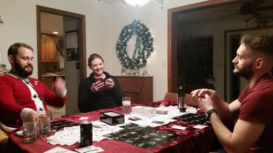 We spent 3 of 4 nights playing Cards Against Humanity: a gift from Jenny's sister