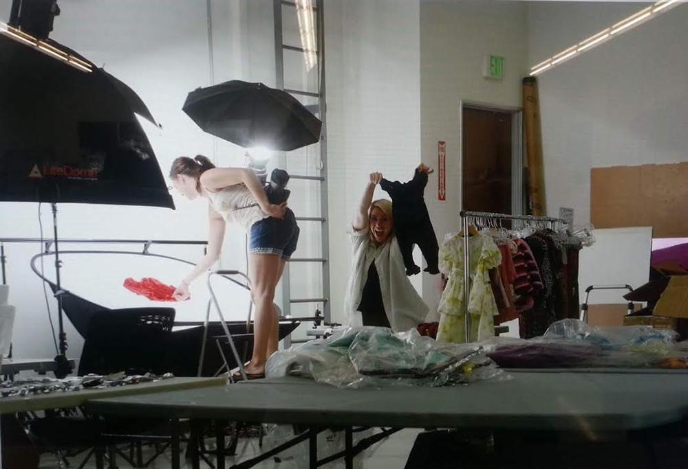 Jenny at work in the Studio