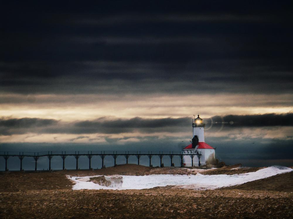 Lake Michigan in Winter