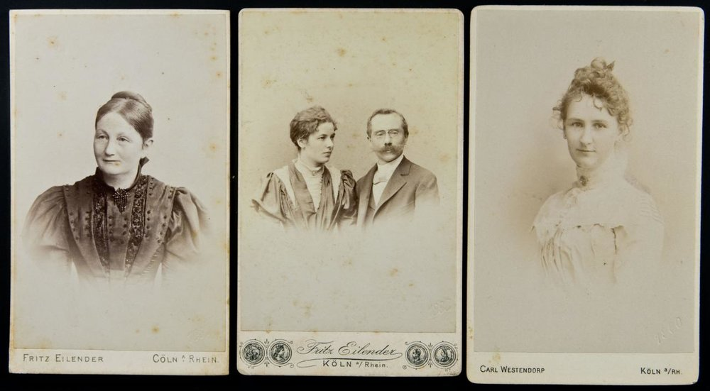 Trio_of_German_cartes_de_visite_with_date_blindstamps,_1897,_1898_&_1900_(13802522443).jpg