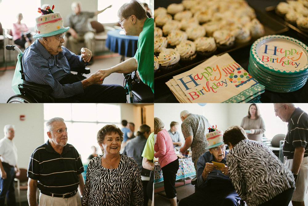 George Hoovers 100th Birthday Party in New Carlisle Indiana