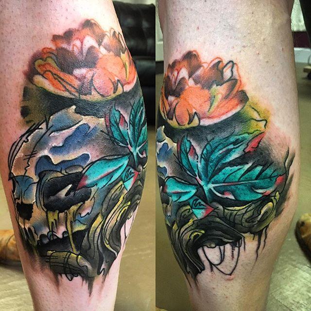 #loggerheadturtle #turtletattoo #skull #skulltattoo #lotus #lotusflower #lotustattoo #art #artist #tattoo #tattoos #tattooartist #femaletattooartist #eternalink #girlpower