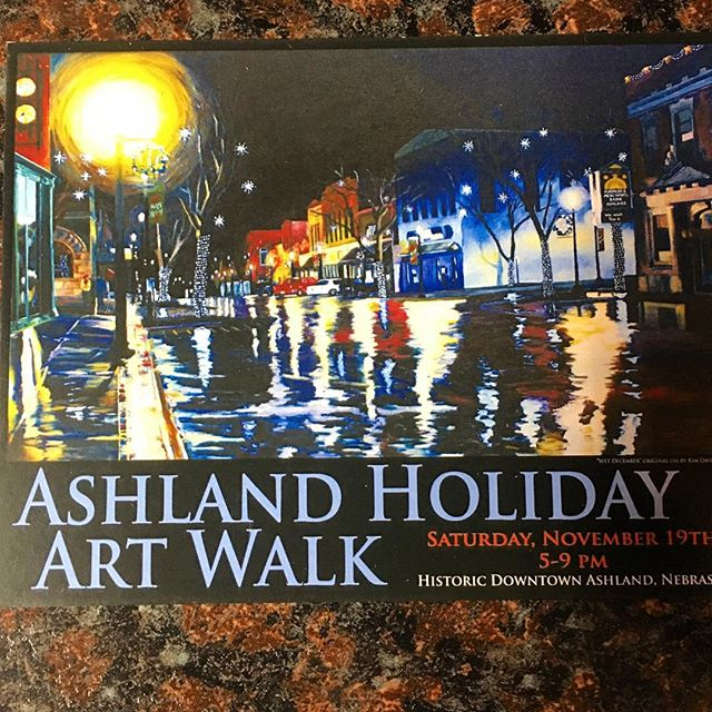A.T.S is excited to take part in the Ashland Art Walk on November 19th. We will have original works of art, Christmas ornaments, prints, music, and maybe even an assorted selection of fancy finger foods. Check out all of the participating galleries and receive a free gift at the end! #ashlandtattooshop #nebraskaartist #smallbusiness #shopsmall #shoplocal #shoplocalashland #christmas2016