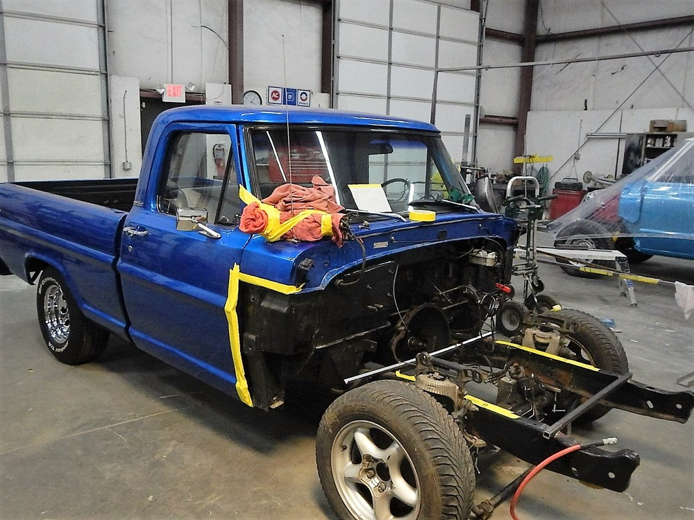 1968 Ford F-100 Front End Swap - Mercury Crown Vic  063.jpg