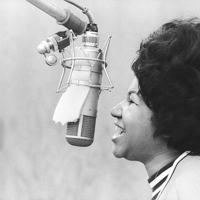 We're celebrating the life of a beautiful artist today. #ArethaFranklin