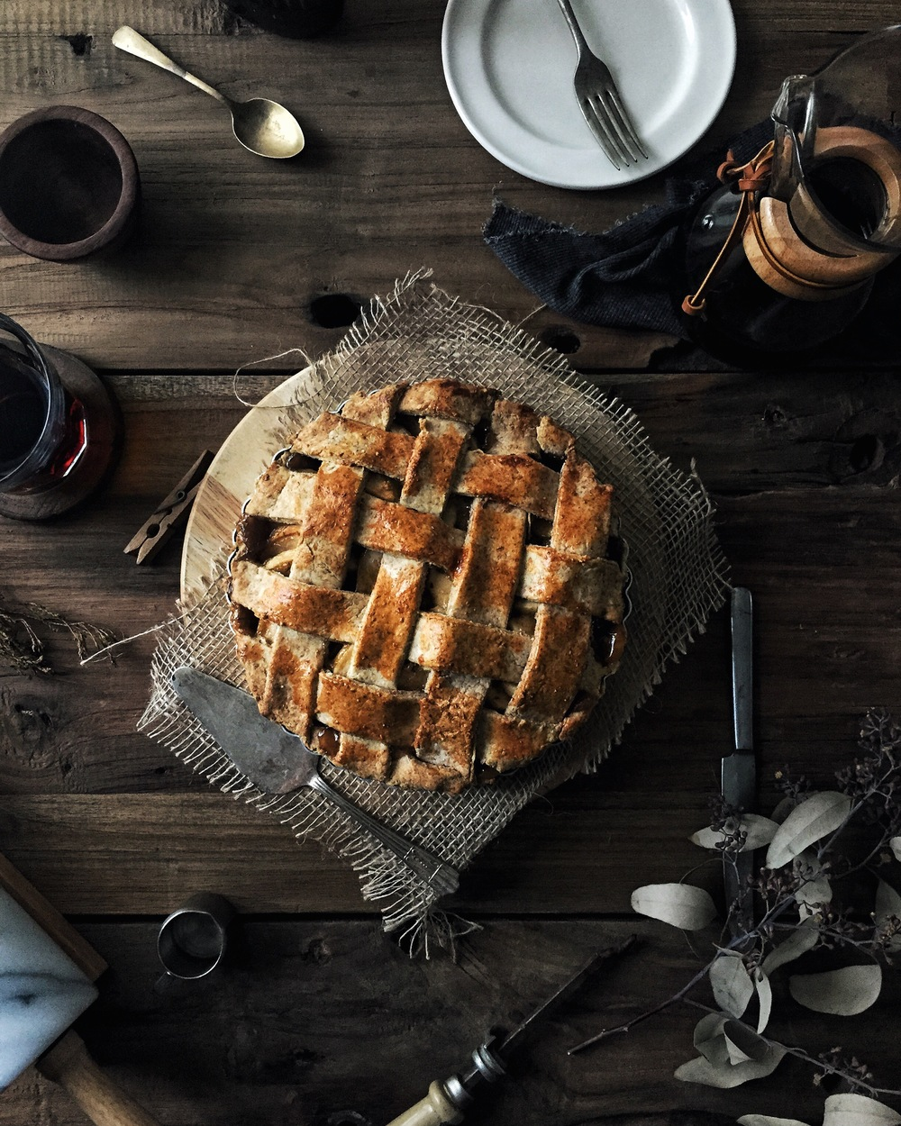 Apple Pie w/ Thyme, Ginger & Lemongrass