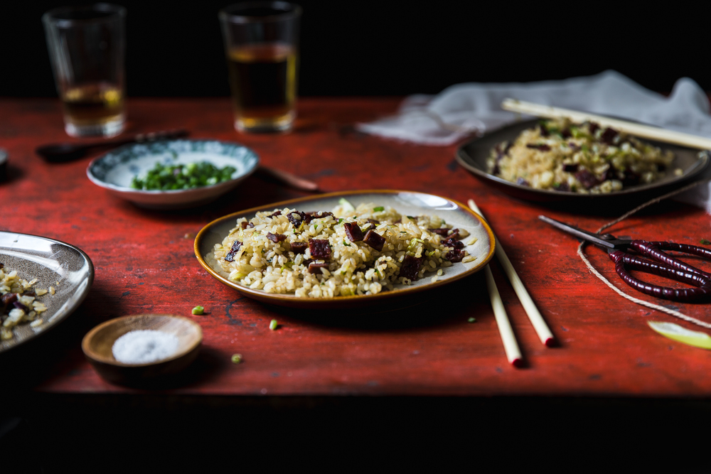 Bakkwa (Chinese Jerky) Fried Rice