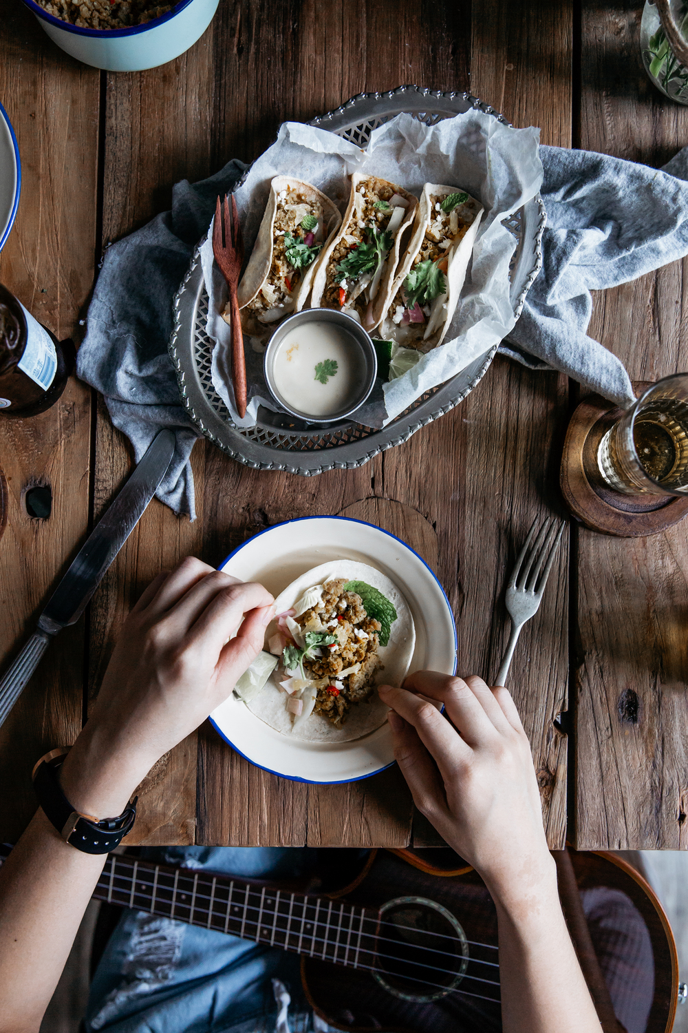Invite-A-Friend: Orange Lemongrass Chipolata Tacos w/ Ruth