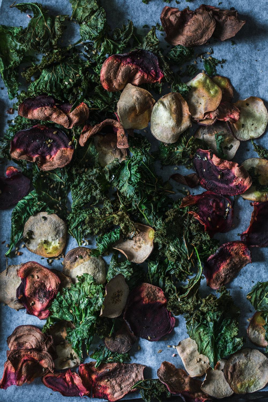 Kale & Roots Chips w/ Furikake