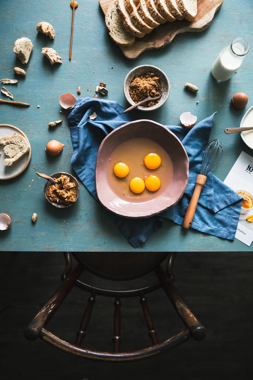 Bread & Peanut Butter Pudding