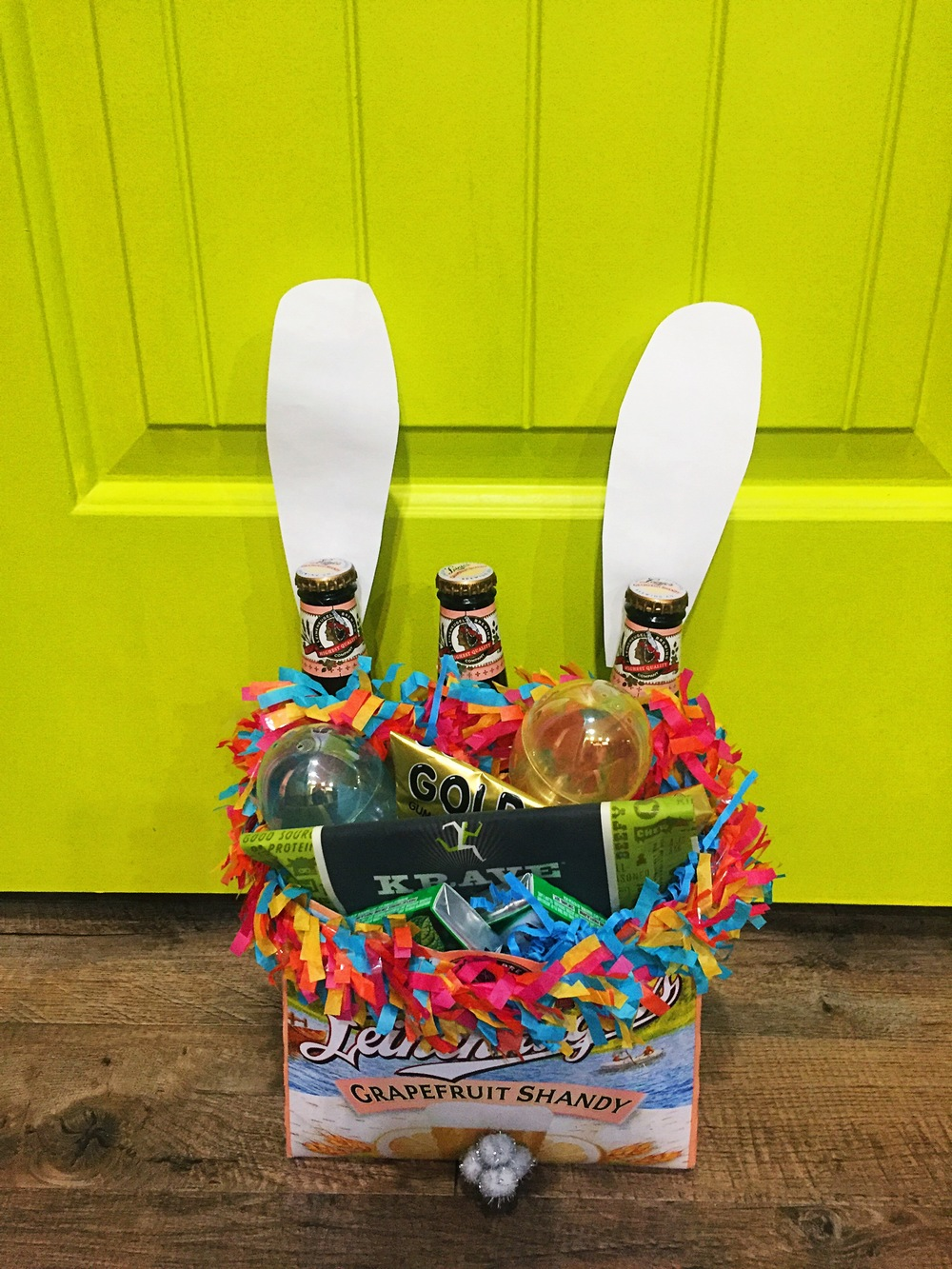 I Stuffed The Basket With A Few Packs Of His Favorite Gum, A Couple Cigars,  Beef Jerky, A Mini Bottle Of Scotch, His Favorite Candy, & A Couple Love  Notes