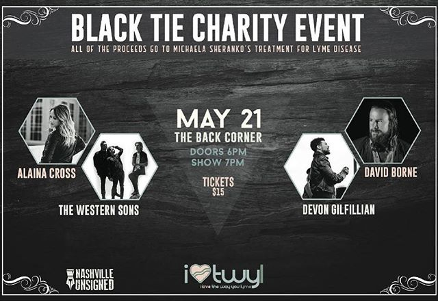 We are so honored to be playing a show to support such an incredibly meaningful cause. All of the proceeds of this show will go towards @flukemusic's Lyme disease treatment. Go follow her and @ilovethewayyoulyme to learn more and we will see y'all on the 21st ❤️
