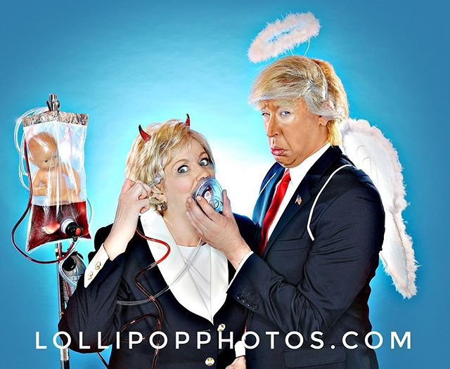 #hillaryclinton #donaldtrump  #halloween #devil #angel #election2016 #msdiglollipop #lollipopphotos